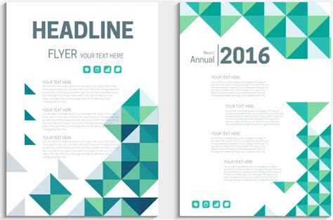 annual report flyer template with delusion triangles