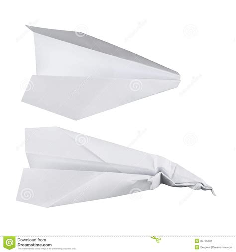How To Make A Normal Paper Airplane - paper airplanes white battered and normal one stock