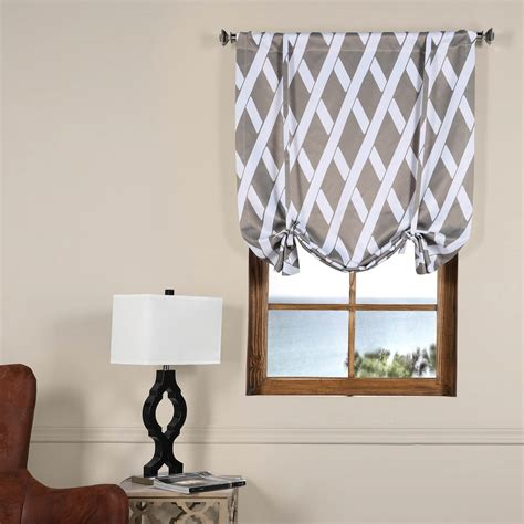 blackout tie up curtains crosshatch grey tie up blackout curtain