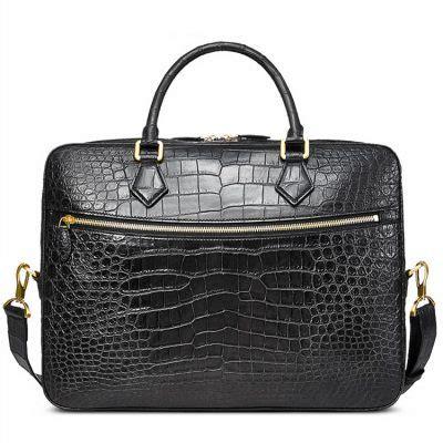 crocodile briefcase, alligator briefcase