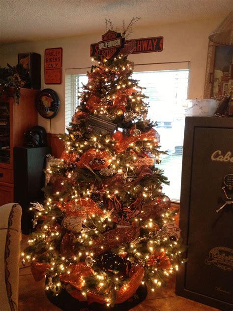 harley davidson christmas tree christmas lights decoration