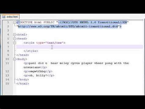 tutorial xhtml css xhtml and css tutorial 33 pseudo elements youtube