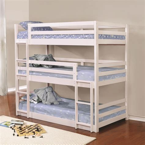 coaster furniture bunk bed coaster bunks 401302 triple layer bunk bed del sol furniture bunk beds