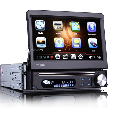 Tv Mobil Single Din 7 quot one din touch screen car dvd car radio single din car gps with detachable panel mpeg2 mpeg4