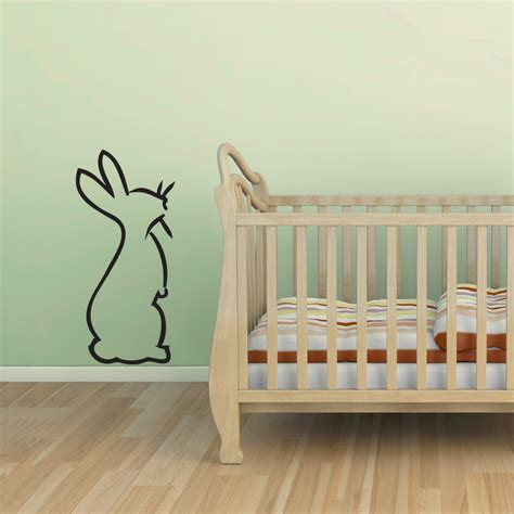 rabbit wall stickers hoppin bunny wall decal