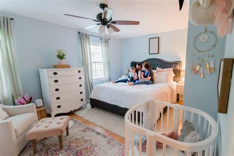 Nursery In Bedroom by The Sweetest Nursery Nook In A Master Bedroom