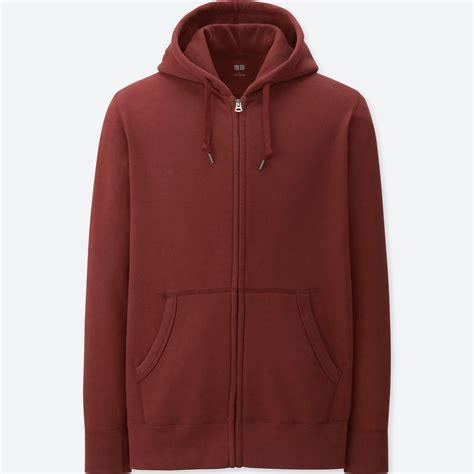 Uniqlo Oversized Hooded Sweat Jacket lyst uniqlo sleeve sweat zip hoodie in orange for