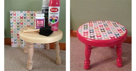 spray painting unfinished wood furniture kid s step stool diy you will need unfinished wooden