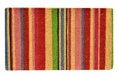 Striped Doormat No Trax Striped Coir Doormat Bright Discounted Doormat