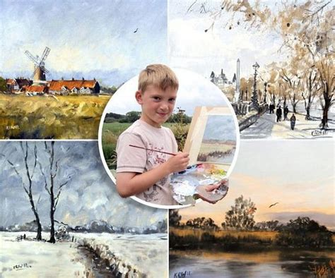 painting for 9 year olds for fans meet kieron williamson the mini monet