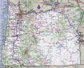 large detailed roads and highways map of oregon state with