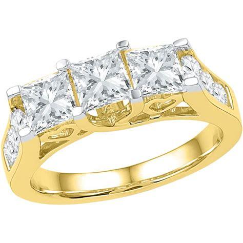 princess cut engagement rings yellow gold hd k ct