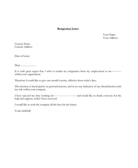 Resignation Letter Writing Pdf Sle Resignation Letter 8 Exles In Pdf