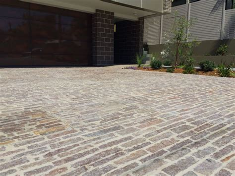 natural stone driveway eco outdoor porphyry filetti as driveway pavers eco