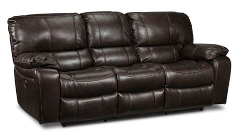 power reclining sofas santorini power reclining sofa walnut leon s