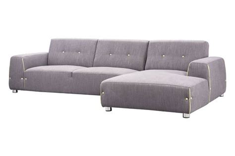 contemporary modern fabric sectional sofa in two unique