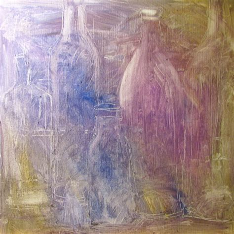 acrylic painting underpainting new paintings sandi s bottles series calling