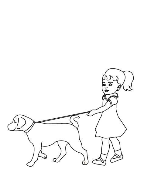 walking dog coloring page coloring pages walking the dog