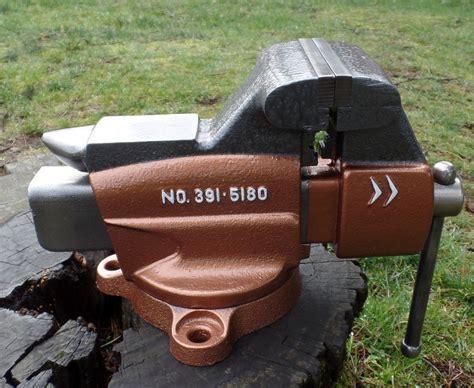 vintage craftsman swivel bench mount combination vise