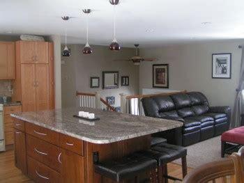 split level open floor plan kitchen apex carpentry llc split level apex carpentry llc