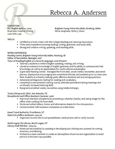 Resume Writing Qualities Cv Writing Personal Skills