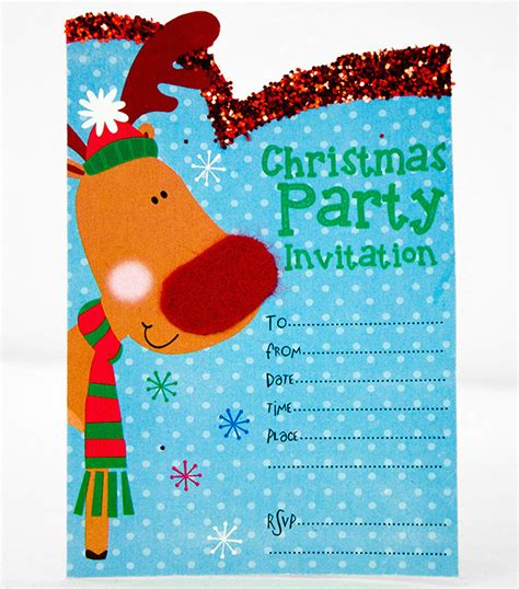 free printable christmas invitation templates party