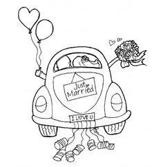 Ausmalbild Auto Just Married by Just Married Auto Selbermachen Pinterest