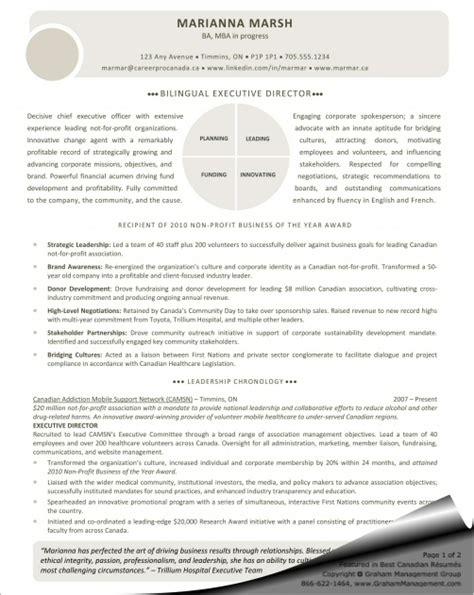 Bilingual Executive Sle Resume by Executive Director Resume Sle Graham