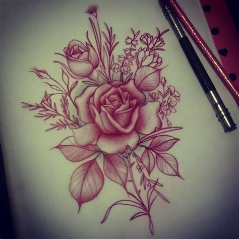 what to add to a rose tattoo i the softness of this adding soft roses and