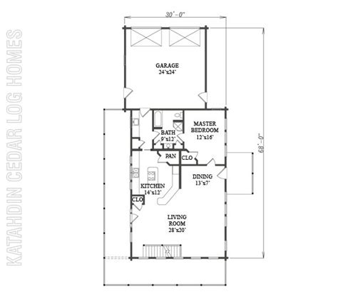 log home plan 09979 katahdin cedar log homes floor plans