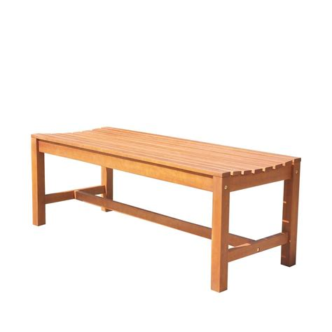 backless patio bench vifah malibu 4 ft backless patio bench v1640 the home depot