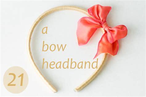 Bando Band Girly day 21 a bow headband a diy hair accessory flax twine