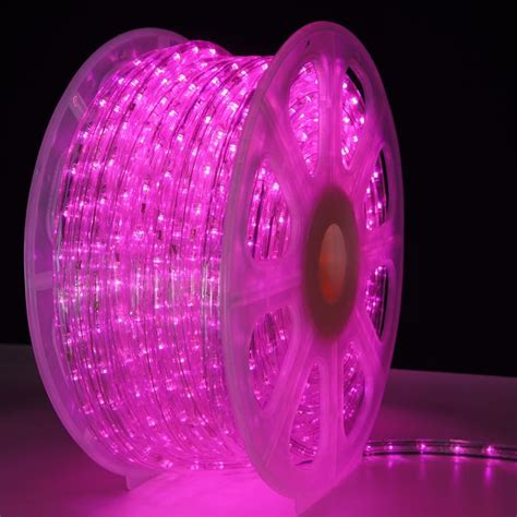 hop pink led rope lights150 foot spool 150 foot spool of 3 8 inch pink led rope light