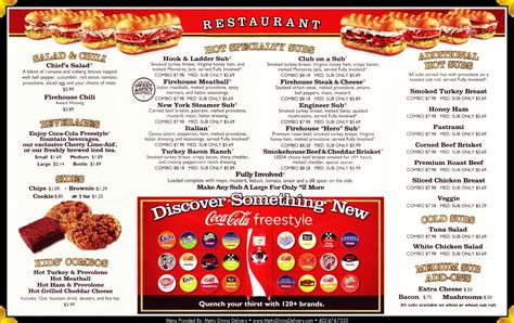 Submarine House Menu by Firehouse Subs Menu 402 904 5294 Lincoln Ne Provided By Metro Dining Delivery