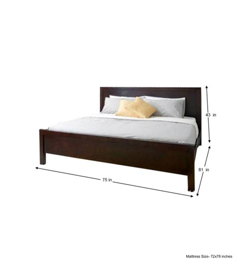 king size bed price cayenne chic king size bed by mudra online king sized