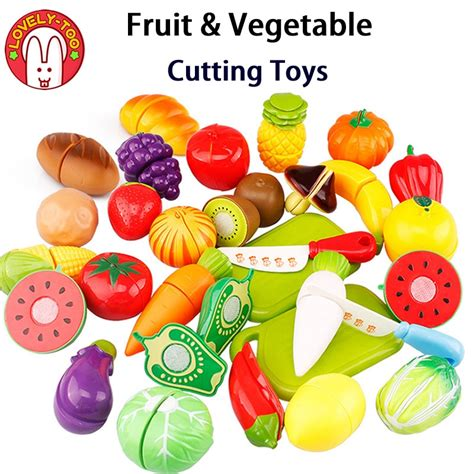 lovely  kids vegetable cutting toys cut fruit games
