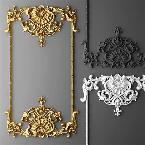 baroque designs baroque frame 3d max diy mirrors furniture molding