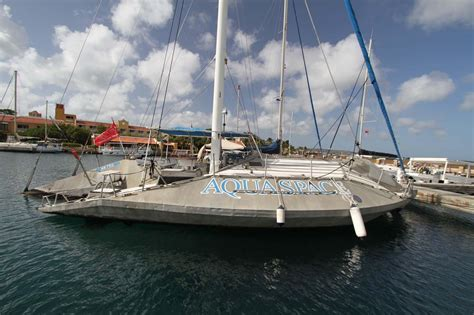 trimaran english 1982 custom glassbottom trimaran sail boat for sale www