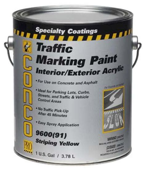 conco 90 176 f600 flat water based int ext acrylic traffic marking paint 1 gal at menards 174