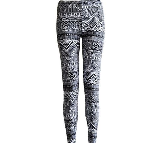 tribal pattern tights tribal womens aztec mayan print pattern black and white