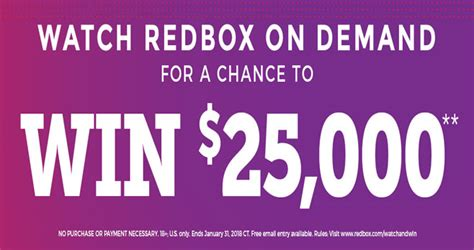 Automatically Enter Sweepstakes - redbox on demand watch win sweepstakes 2018
