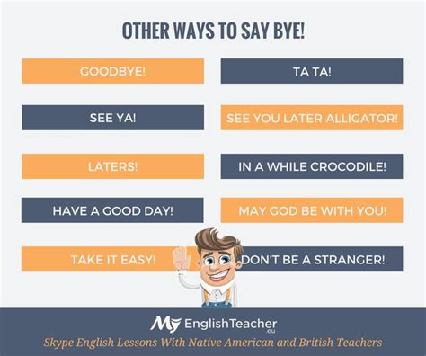 other ways to say bye bye e s vocab pinterest