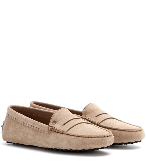 tods suede loafers tod s gommini suede driving loafers in lyst