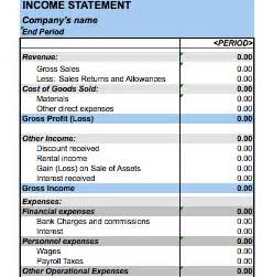 excel balance sheet and income statement template 5 free income statement exles and templates