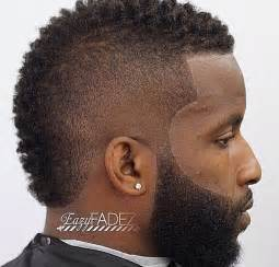 clean frohawk with nice beard work black men haircuts