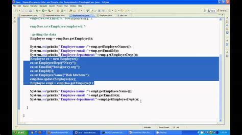 spring tutorial youtube kaushik spring jdbc tutorial part 2 spring framework jdbc
