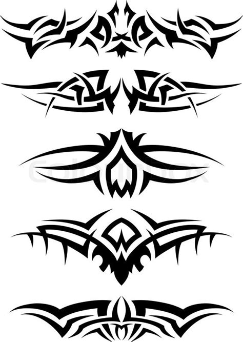 tribal line pattern patterns of tribal tattoo for design use vector