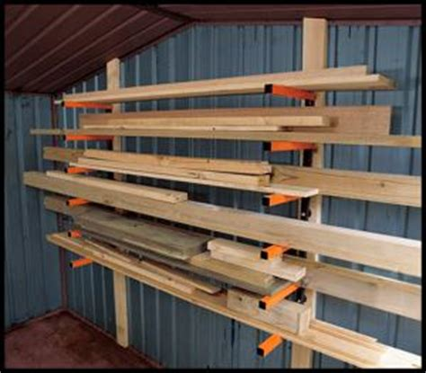 Portamate Wood Rack by Lumber Storage Rack Portamate Pbr 001 Six Level Wall