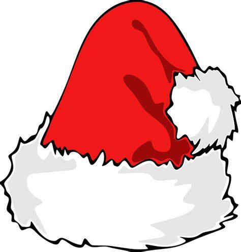 Topi Natal Santa gambar vektor gratis topi santa santa topi natal