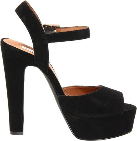s shoes steve madden dynemite platform sandal heels pumps black suede ebay